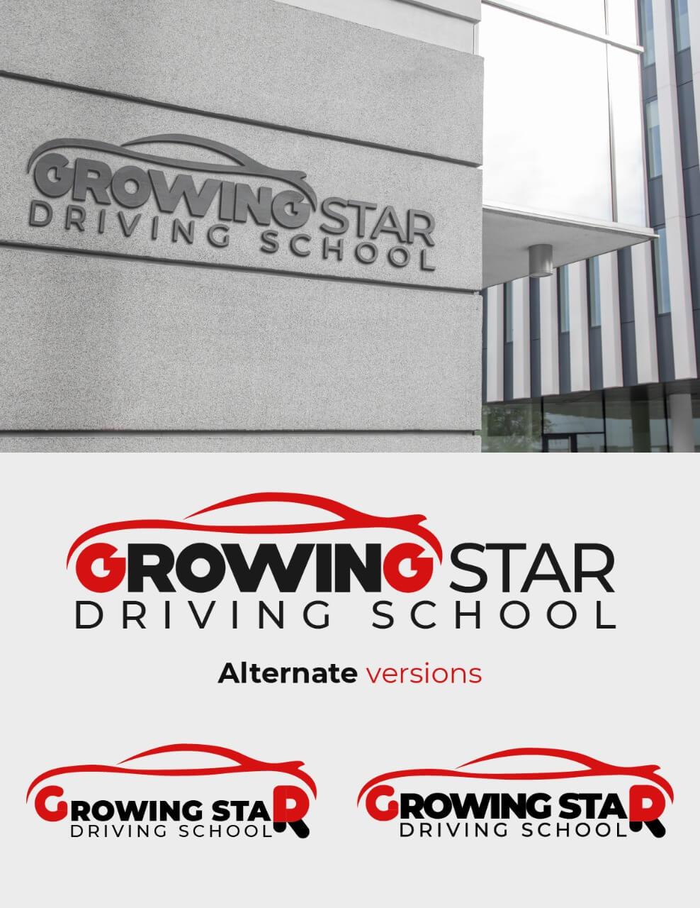 Growing Star Driving School Mockup