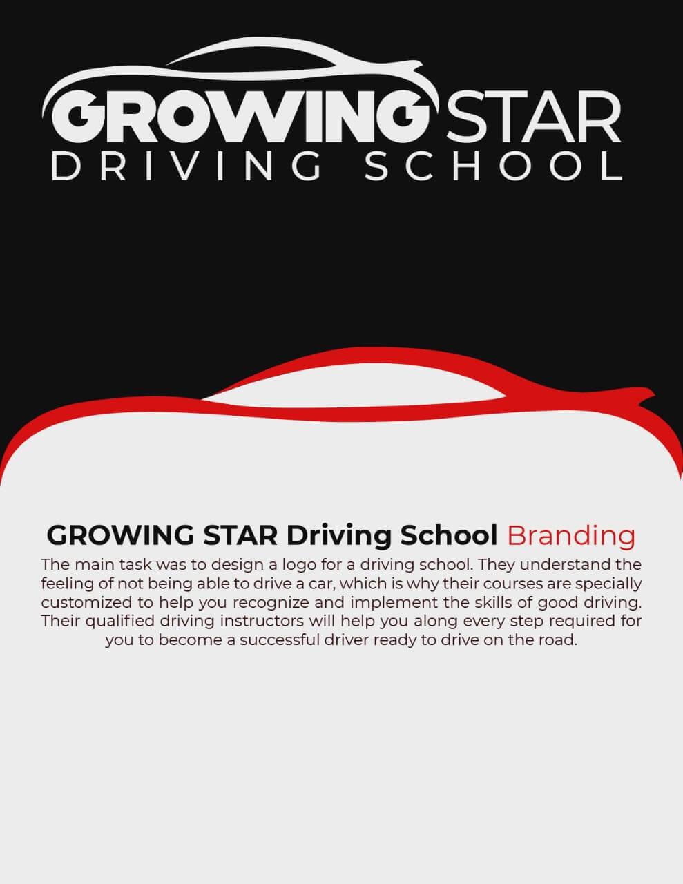 Growing Star Driving school logo